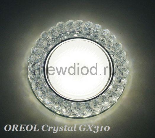Точечный Светильник OREOL Crystal GX310 125/80mm Под Лампу GХ53 H4 Белый
