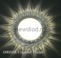 Точечный Светильник OREOL Crystal Rlp P290 4+6Вт 4000K 125/80mm Белый