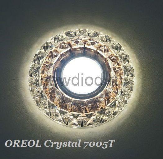 Точечный Светильник OREOL Crystal 7005T 110/60mm Под Лампу MR16 Белый