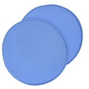 Набор круглых подушек на стул (2 шт.), диаметр 34 ± 2 см, цвет небесный