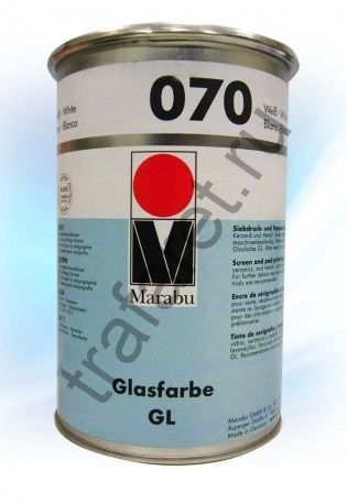 Краска Marabu Glasfarbe GL 070 White 1 л