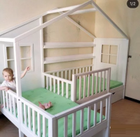 Кровать Домик угловой Fairy Land №20 (для двоих детей)