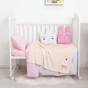 "Одеяло-плед с вышивкой ""Крошка Я"" Magic, 90х100 см, велсофт 4855577"