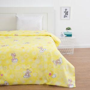 Пододеяльник Экономь и Я «Мишки», цвет жёлтый, 147х210 см (±3 см), бязь