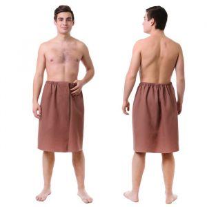 Килт для сауны муж (65х150), цв.шоколадный, ваф.полотно 160г/м, хл100%   4308943