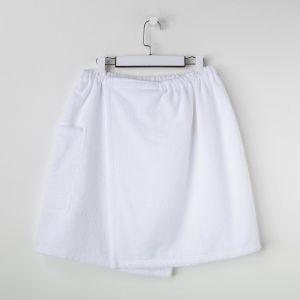 Мужской килт для сауны с карманом Экономь иЯ,50*150 см, белый, 360 г/м2, хл.100% с AIRO 4763374
