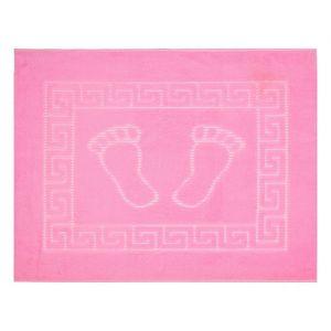 Коврик для ног прорезиненный, 50х70 см розовый нано-микрофибра п/э100%   1592462
