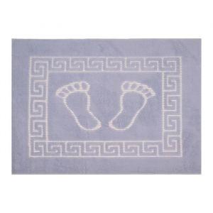 Коврик для ног прорезиненный, 50х70 см серый нано-микрофибра п/э100%   1592463