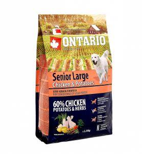 Ontario Для пожилых собак крупных пород с курицей и картофелем