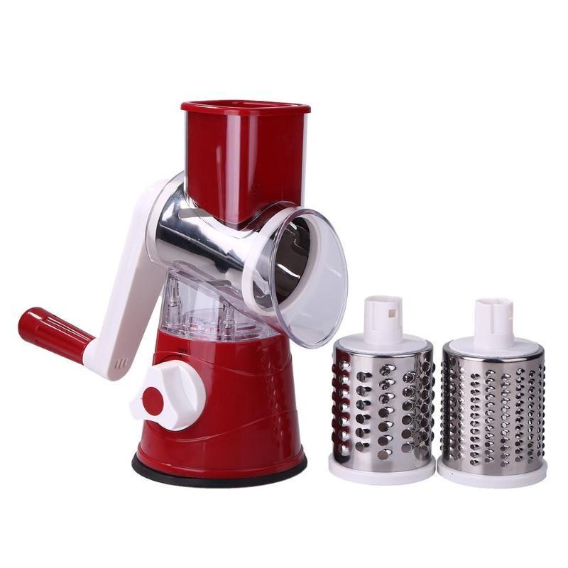 Мультислайсер для овощей и фруктов Household Rotary Cutting Machine (цвет бордовый)