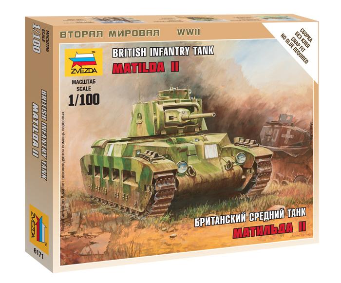 """6171 Британский танк """"Матильда"""" Мк-2 (1:100)"""