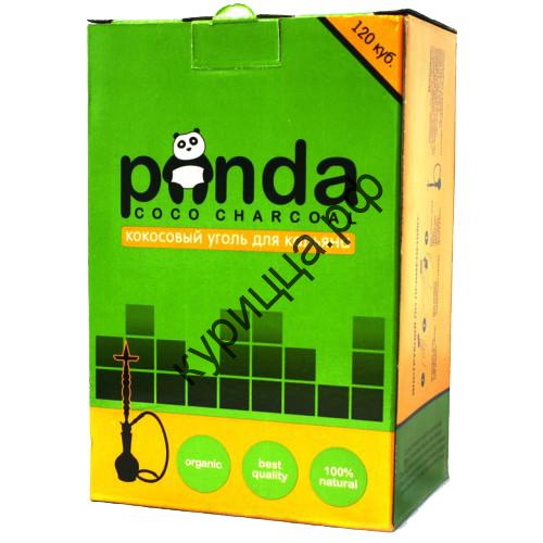 Кокосовый уголь для кальяна, Панда зеленая, 120 куб.