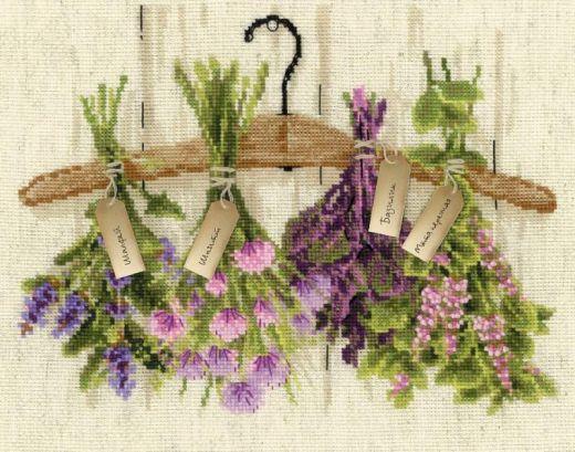 Набор для вышивания крестом Пряные травы №1717 фирма Риолис
