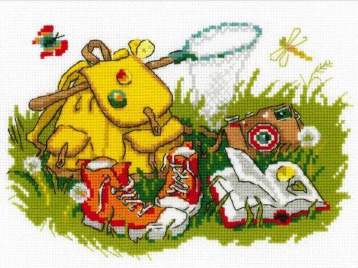 Набор для вышивания крестом Отдых на траве № 1718 фирма Риолис