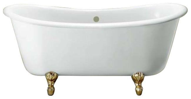 Ванна акриловая Knief Chateau 0100-073-01 180 х 80 см с 4-мя ножками лапа с когтями цвета латунь ФОТО