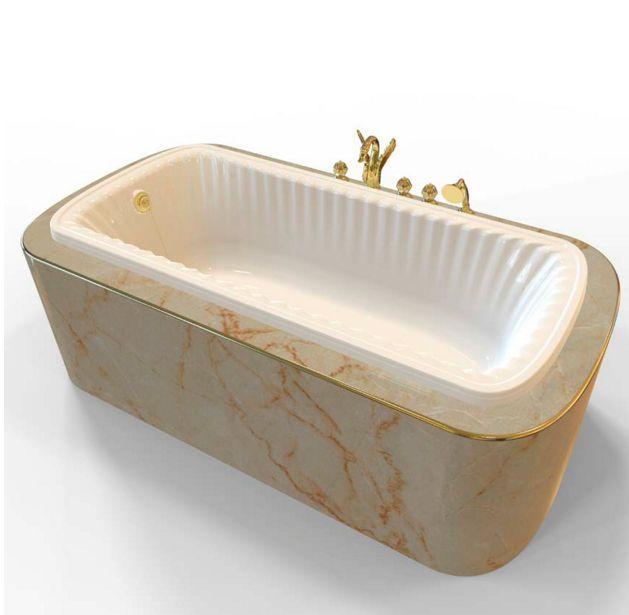 Ванна из литьевого мрамора Migliore OLIVIA Podium 24380 ФОТО