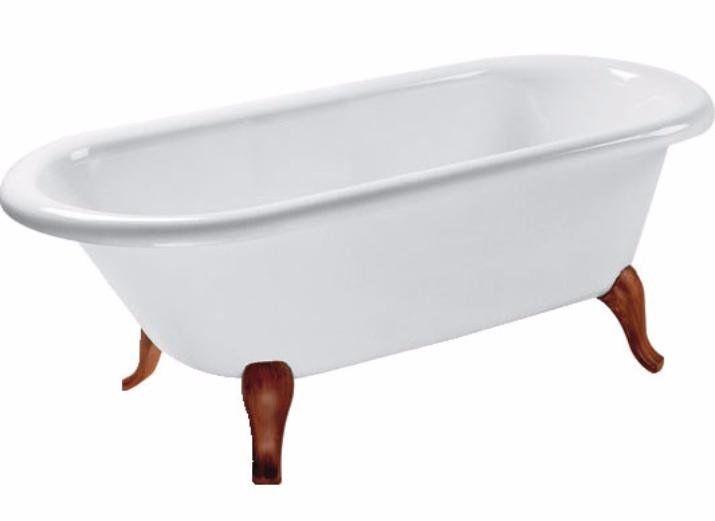 Квариловая ванна Villeroy&Boch Hommage 177x77 UBQ180HOM7V-01 на деревянных ножках ФОТО