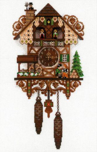 Набор для вышивания крестом Часы с кукушкой №1730 фирма Риолис