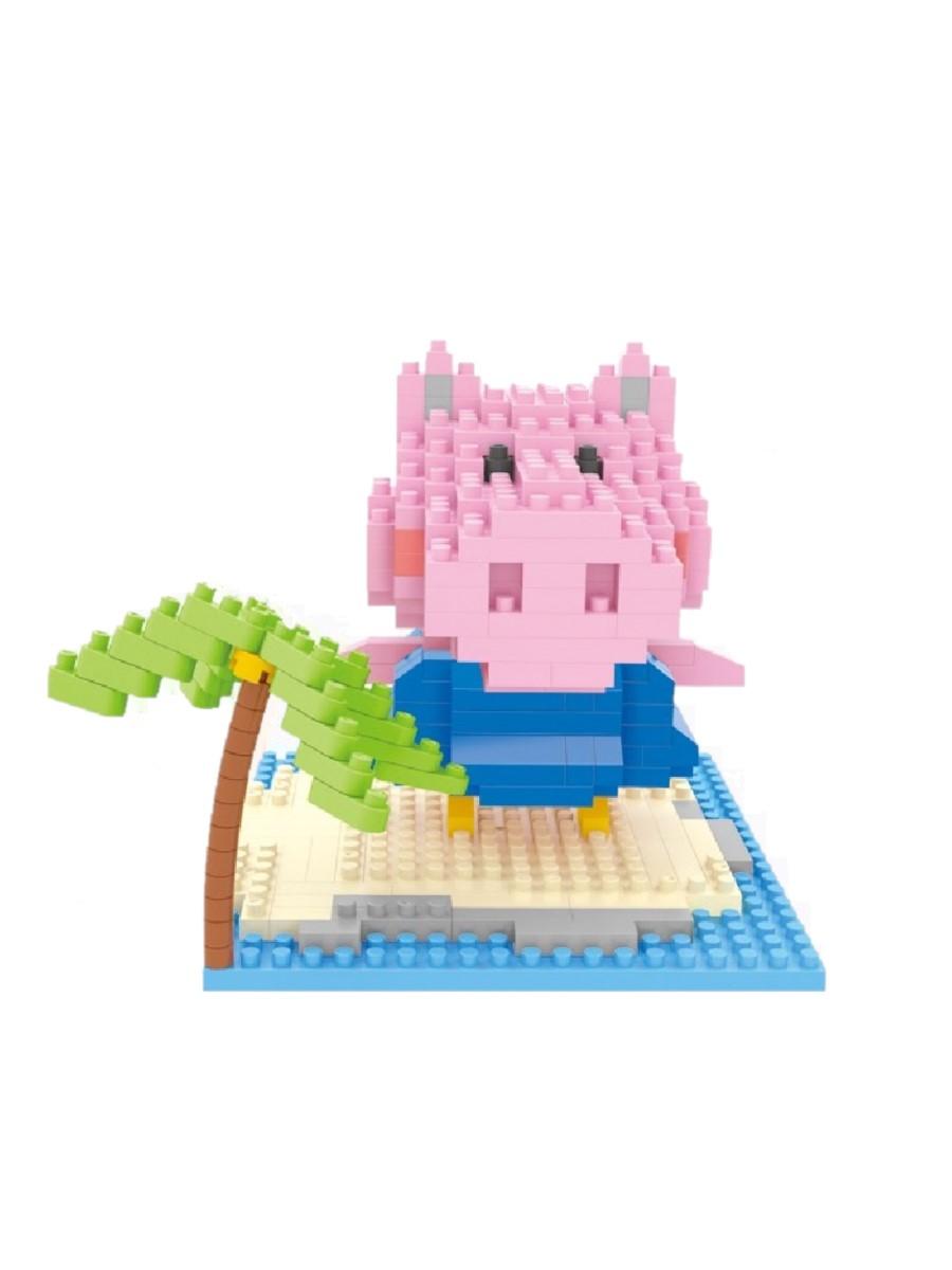 Конструктор Wisehawk & LNO Свинка Пеппа и пальма 304 детали NO. 071 Peppa Pig mini blocks