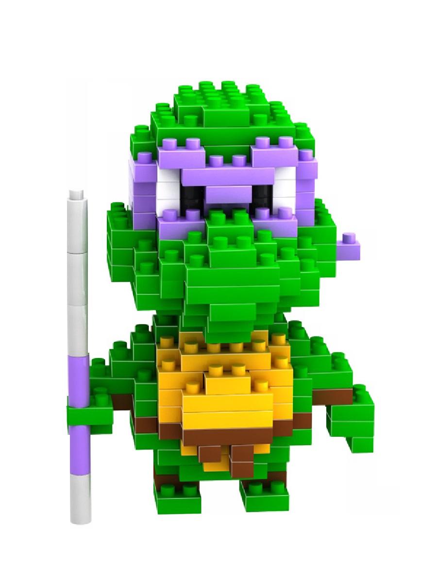 Конструктор Wisehawk & LNO Черепашки-ниндзя Донателло 200 деталей NO. 081 Donatello Gift Series