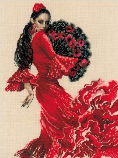 Набор для вышивания крестом Танцовщица №1740 фирма Риолис