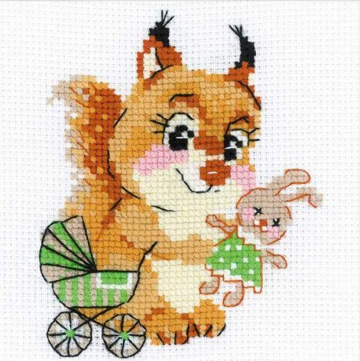 Набор для вышивания крестом Дочки-матери №1741 фирма Риолис