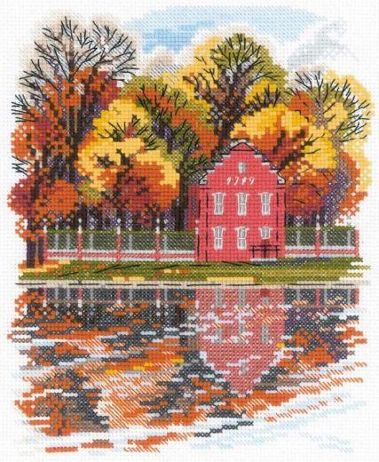 Набор для вышивания крестом Усадьба Кусково. Голландский домик №1759 фирма Риолис