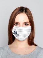 Защитная маска для лица ( двойная) цветная  с рисунком №010