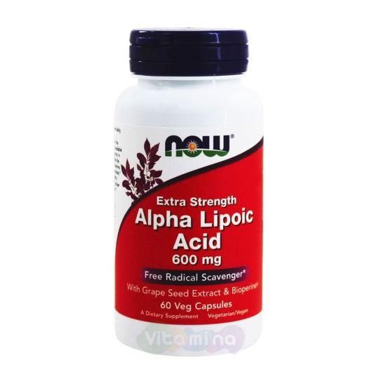 Now Alpha Lipoic Acid (Альфа Липоевая кислота) 600 мг, 60 капс.