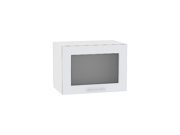 Шкаф верхний Ницца Royal ВГ500 со стеклом (Blanco)