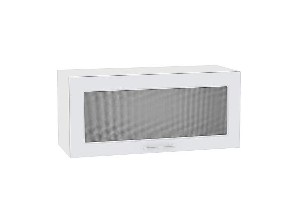 Шкаф верхний Ницца Royal ВГ800 со стеклом (Blanco)