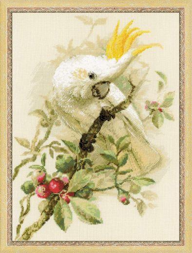 Набор для вышивания крестом Белый какаду №1362 фирма Риолис