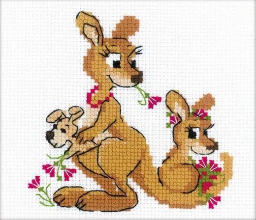 Набор для вышивания крестом Где гуляли кенгуру №1786 фирма Риолис