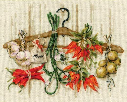 Набор для вышивания крестом Острые приправы №1794 фирма Риолис