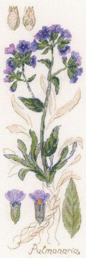 Набор для вышивания крестом Пульмонария №1797 фирма Риолис