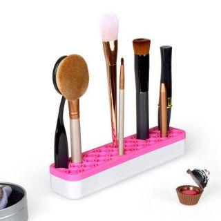 Органайзер для косметики с силиконовыми ячейками Clutter-Free Counters, Ярко-Розовый