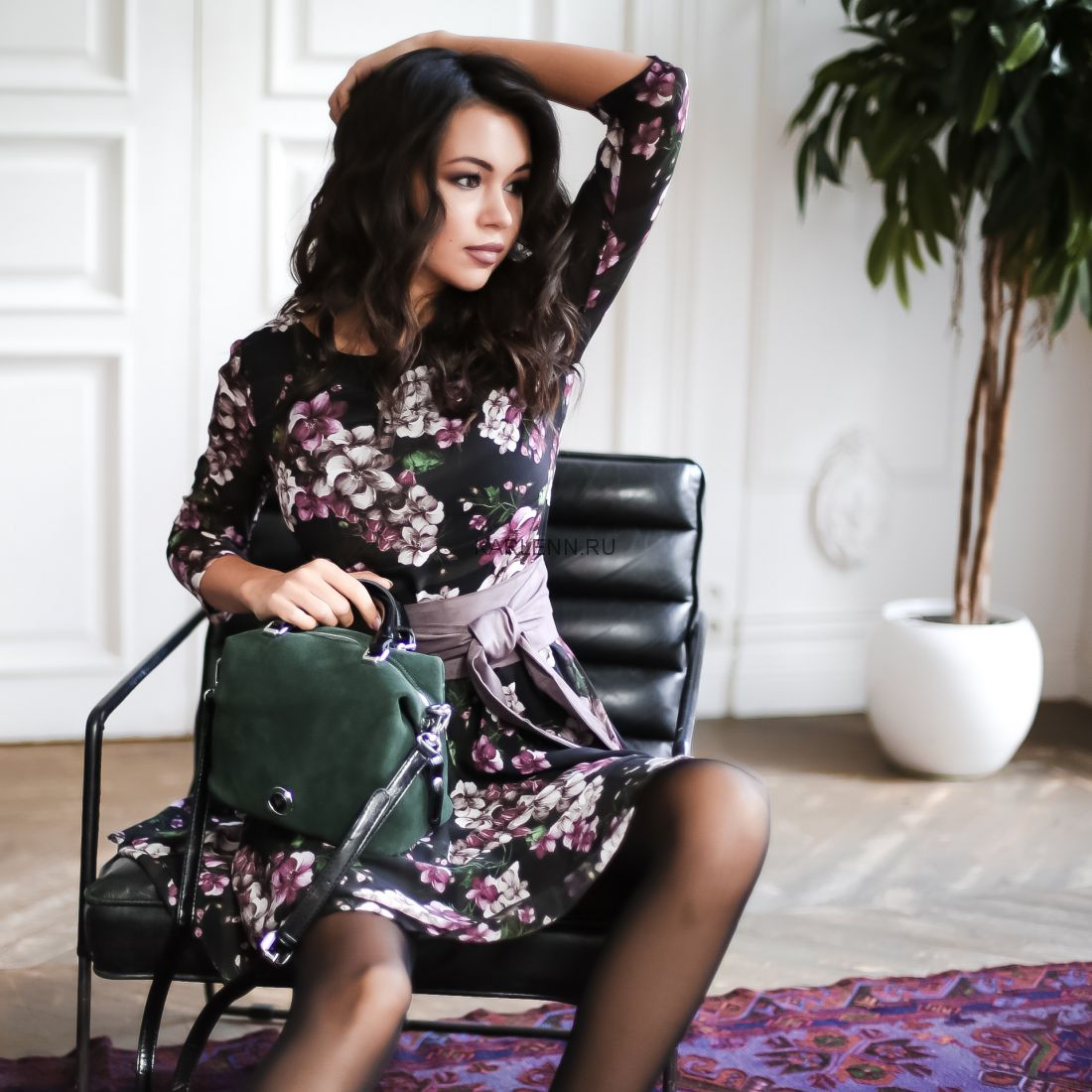 Мини-сумочка Velina Fabbiano (зелёная)
