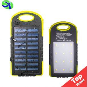 Повербанк с солнечной батареей и светодиодным фонарём