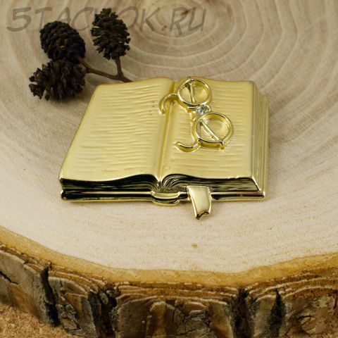 """Брошь """"Книга и очки"""" (AJC США)"""