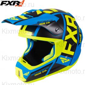 Шлем FXR Torque X Evo, цвет: Blue/Hi-Vis