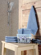 Комплект махровых салфеток PRUVA (30*30)*6(голубой) Арт.5114-2