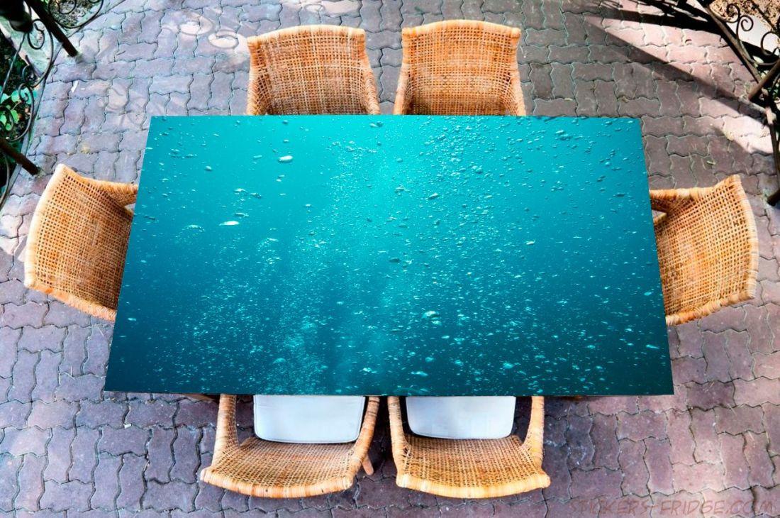 Наклейка на стол - Пузырьки воздуха