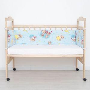 """Бортик защитный """"Малышок"""", размер 30х360, цвет голубой, бязь, хл100%   4301167"""