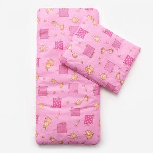 Комплект в коляску (матрасик 40*80 см, подушка 30*40 см) для девочки МИКС 1165625
