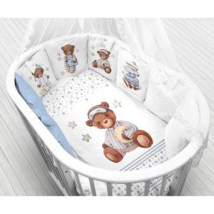 Комплект в кроватку Спящие мишки, 6 предметов, перкаль, хл100%   4644766