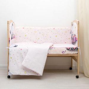 Комплект в кровать Счастливчик 6 пр., кремовый, бязь/аэрофайбер, 120г/м, хл100%