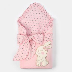 """Конверт-одеяло Крошка Я """"Зайка"""", розовый, 50-62см   4662213"""