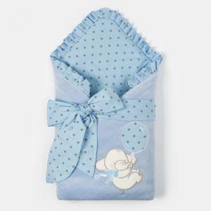"""Конверт-одеяло Крошка Я """"Слоник"""", голубой, 50-62см   4662216"""