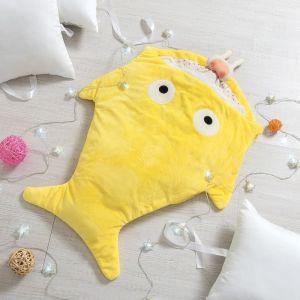"""Одеяло (конверт) для детей Крошка Я  """"Акула"""" цв.желтый, 48*83 см, чехол п/э, подклад хл.   4357238"""