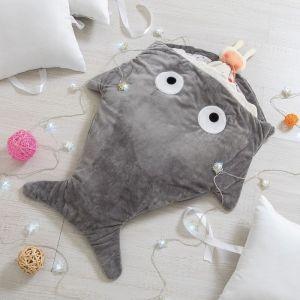 """Одеяло (конверт) для детей Крошка Я  """"Акула"""" цв.серый, 48*83 см, чехол п/э, подклад хл.   4357236"""